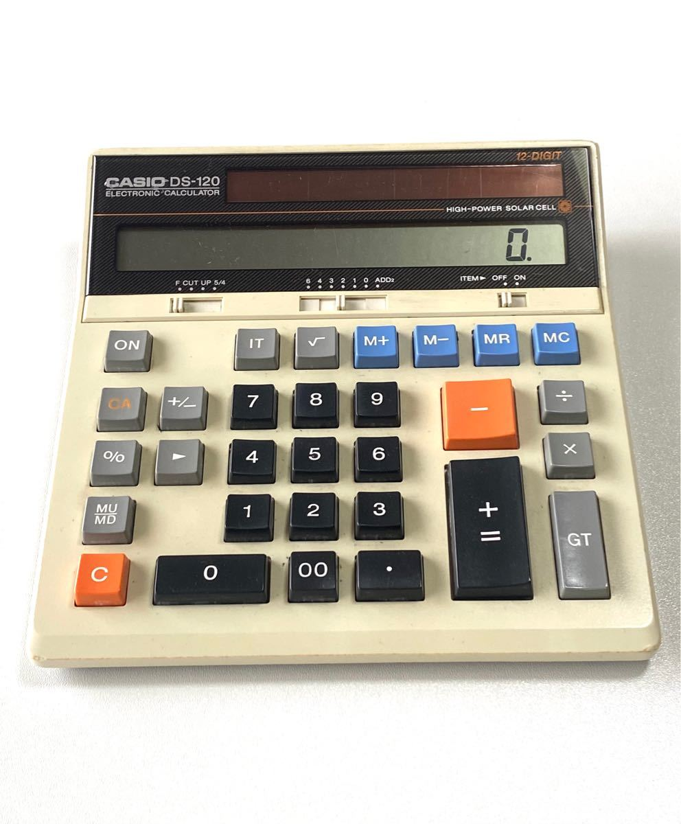CASIO 電卓 DS-120 昭和レトロ 名機