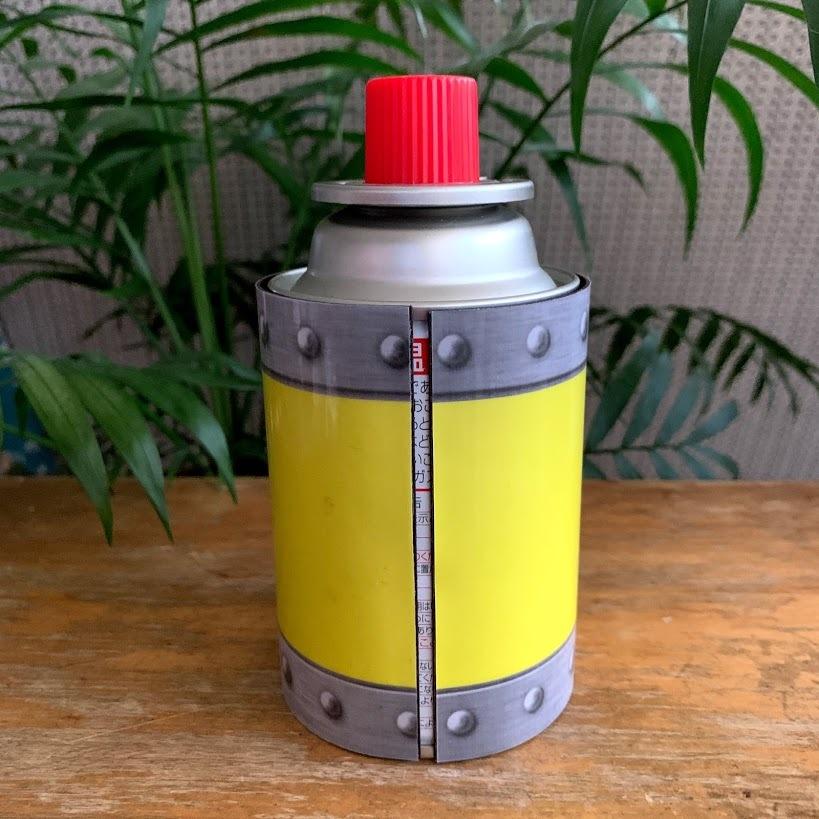 CBミニ缶(カセットガスジュニア)マグネットカバー★プルトニウム★バックトゥザフューチャーデザイン