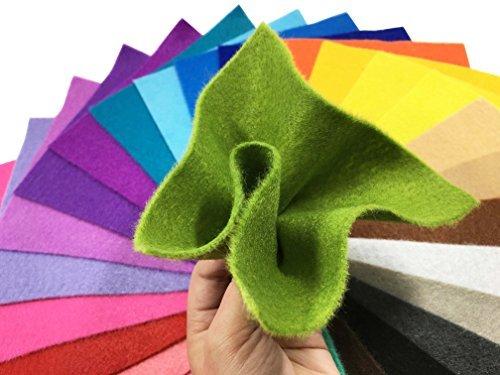 ≪限定1点≫44枚 15cm x 15cm 28枚 柔らかいタイプ 羊毛フェルト クラフト DIY手芸用 不織布 選べるサイズ&_画像6
