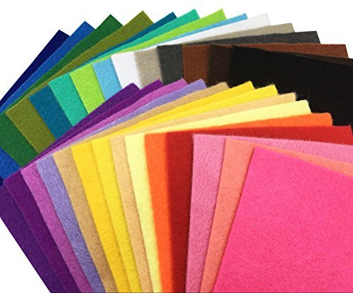 ≪限定1点≫44枚 15cm x 15cm 28枚 柔らかいタイプ 羊毛フェルト クラフト DIY手芸用 不織布 選べるサイズ&_画像1