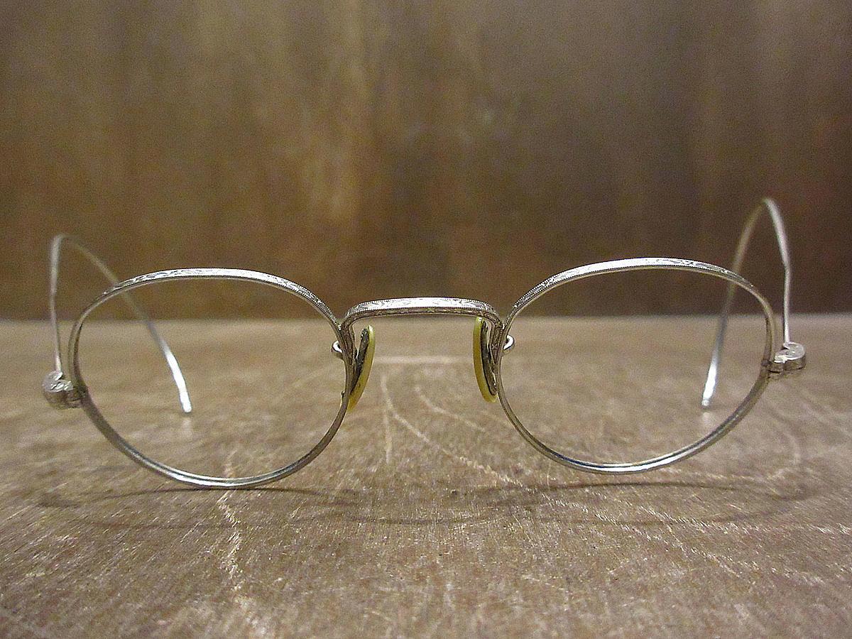 ビンテージ30's●ケース付きB&Lキッズサイドマウント彫金ボストン眼鏡●210314n5-eygls 1930s子ども用ボシュロム_画像3