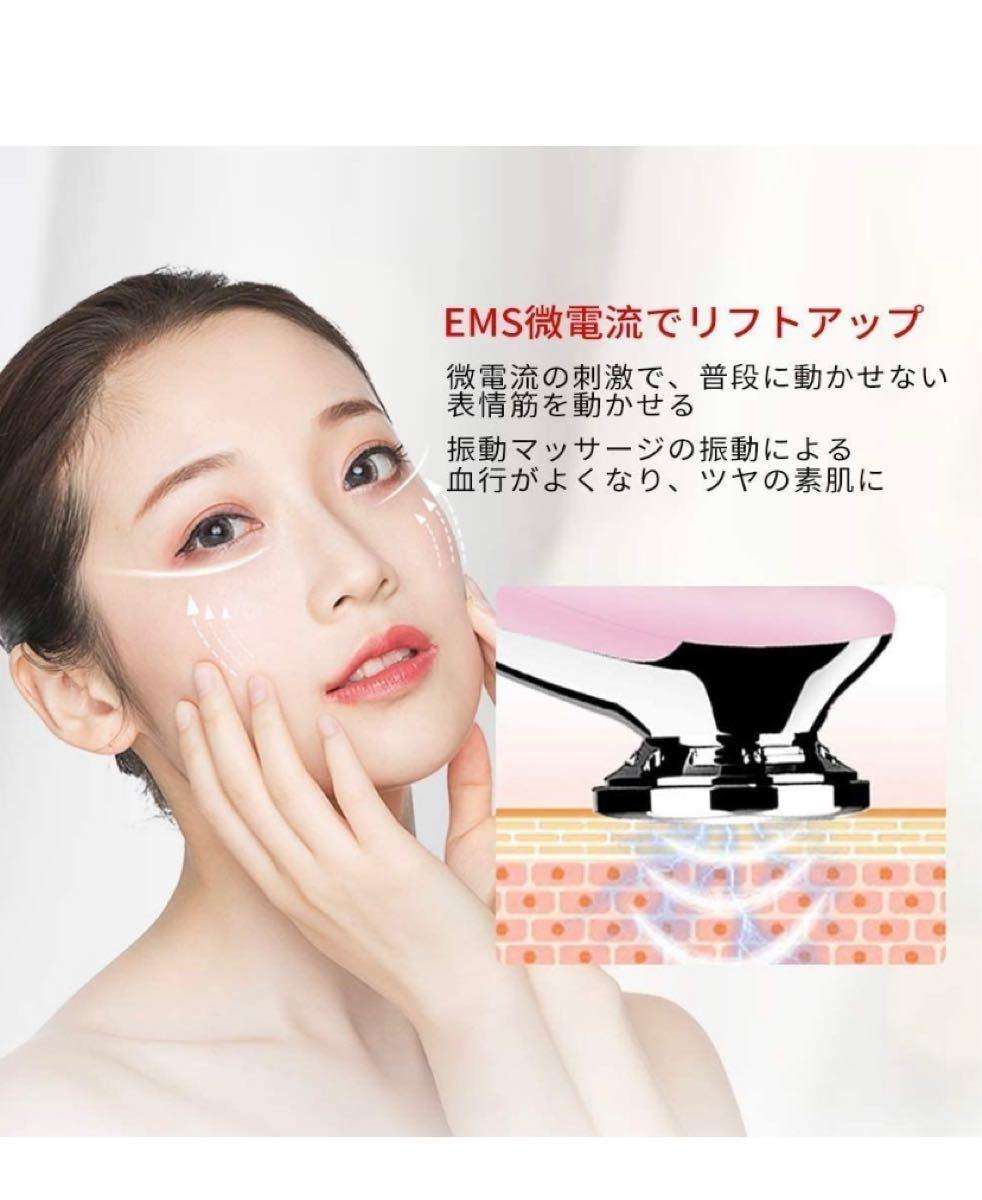 温冷美顔器 イオン導出/導入 光エステ振動マッサージ EMS微電流 ほうれい線改善 美肌 保湿 抗老化 小顔 1台8役 自宅エステ