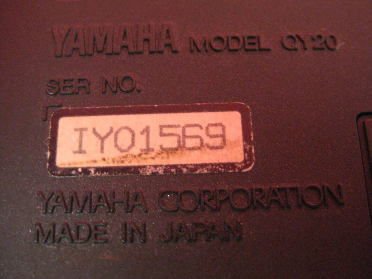 【ハッピー】YAMAHA ヤマハ ミュージックシーケンサー QY20 ジャンク扱い_画像7