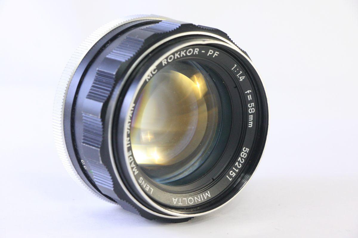 実用★ミノルタ MINOLTA MC ROKKOR-PF 58mm F1.4★薄カビ・クモリ★KKK316_画像1