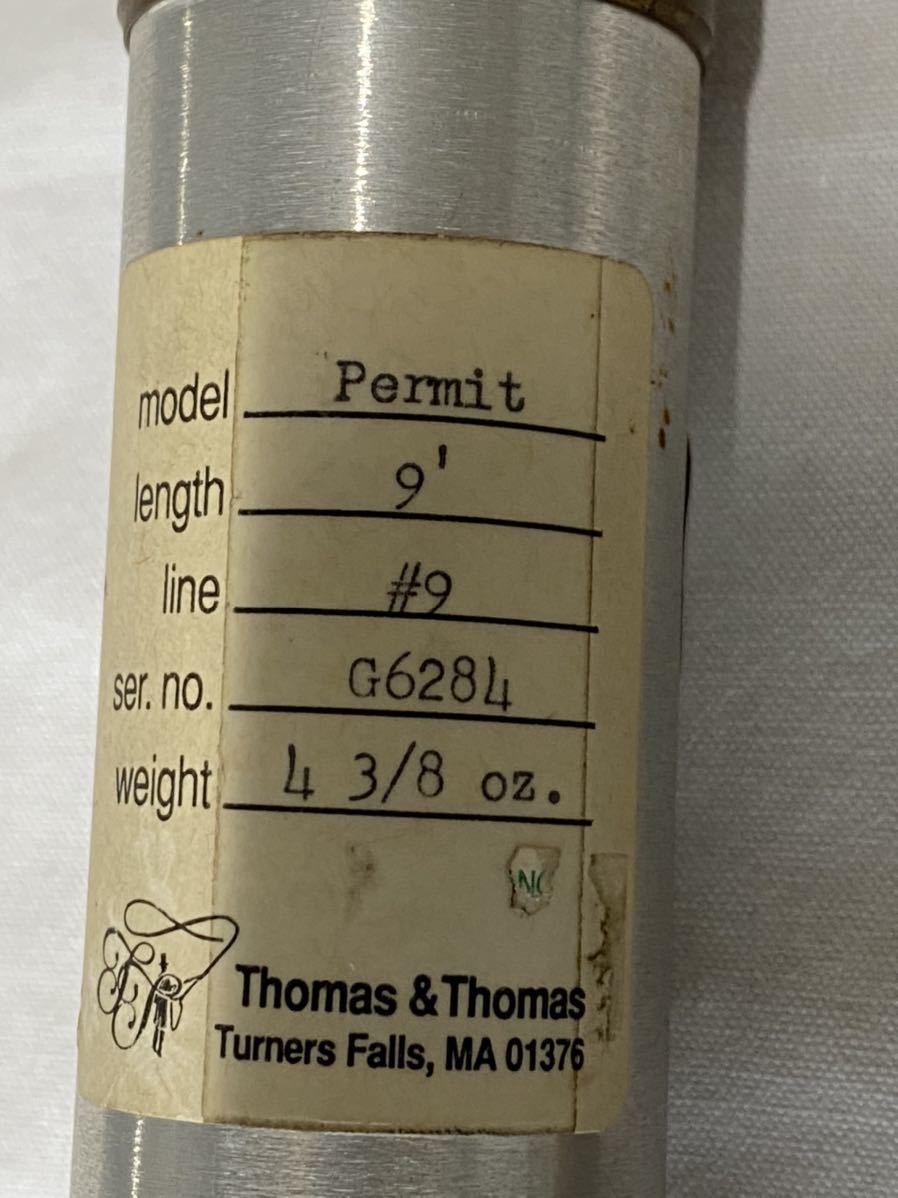 Thomas & Thomas トーマス&トーマス Permit G-6284 4-3/8oz 9' #9 フライロッド _画像7