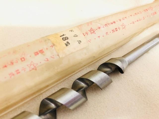 【長期保管品:未使用】木工用 ドリルビット ロングタイプ 18mm 全長:約23cm 多少錆あり_画像3