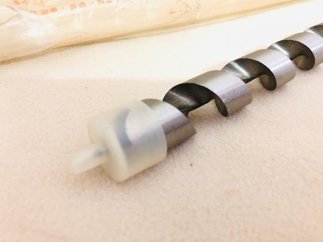 【長期保管品:未使用】木工用 ドリルビット ロングタイプ 18mm 全長:約23cm 多少錆あり_画像4