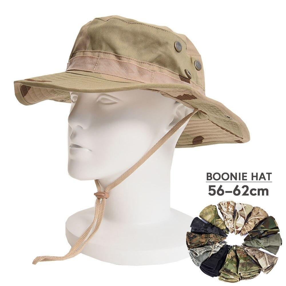 【最終値引き】米軍の戦術的BOONIE帽子軍人綿迷彩キャップペイントボールエアガン狙撃バケットキャップハント釣り屋外狩猟帽子_画像1