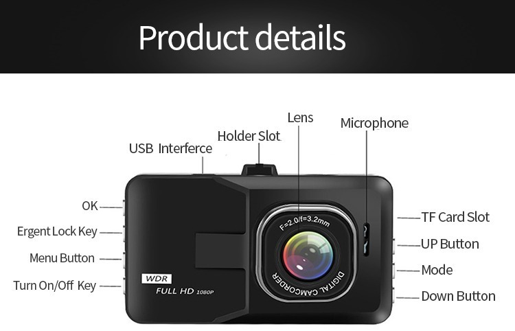 【激安特価】 運転対策 ダッシュカメラ HD 1080P 車運転 レコーダー 車両カメラ ドライブレコーダー ドライブカメラ カメラ_画像5