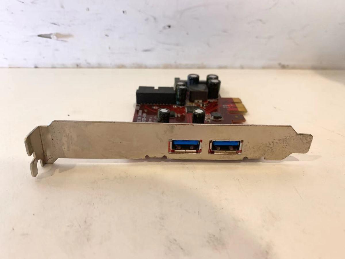 YZ3210★★【ジャンク】玄人志向 NEXTシリーズ PCI-Express x1接続 USB3.0増設インターフェースボード D126-00B_画像2