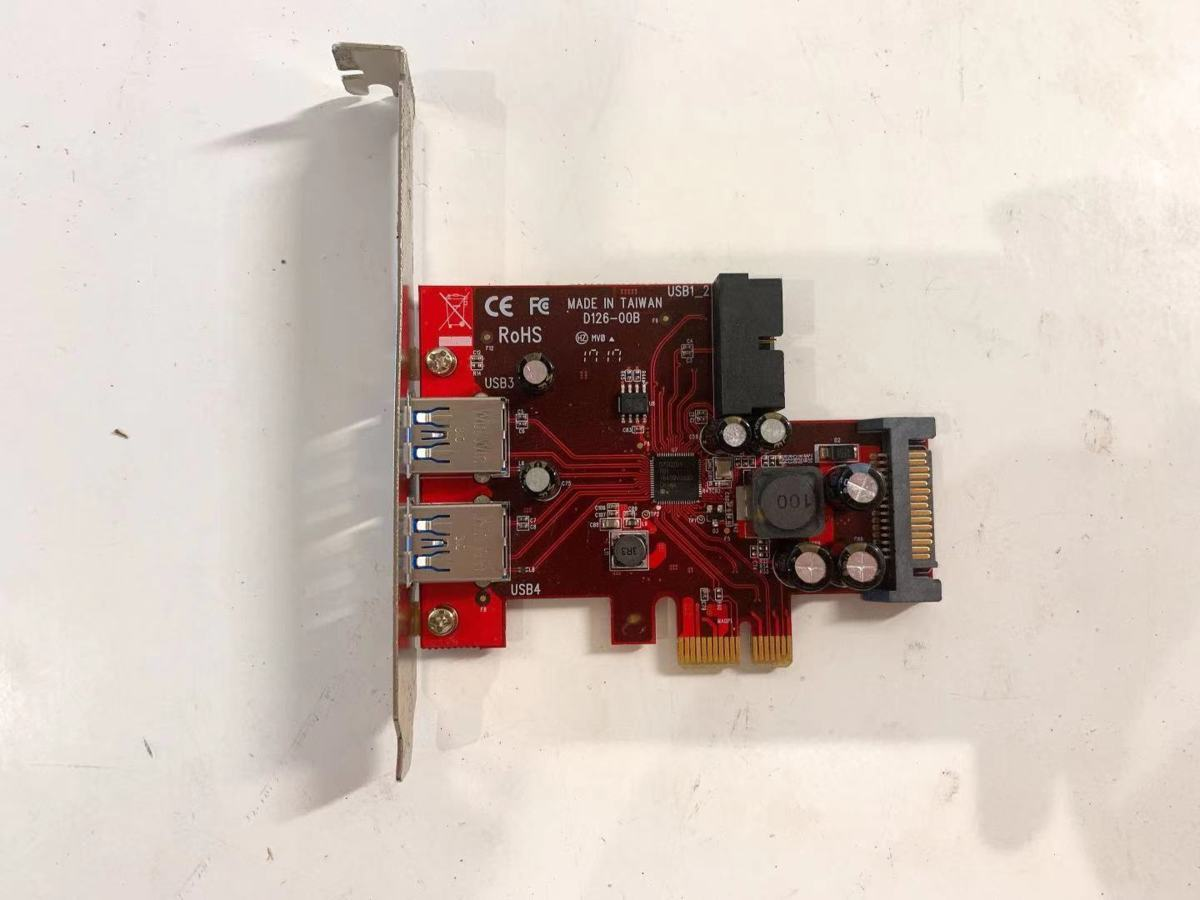 YZ3210★★【ジャンク】玄人志向 NEXTシリーズ PCI-Express x1接続 USB3.0増設インターフェースボード D126-00B_画像1