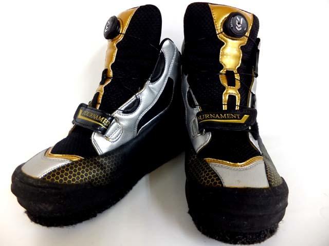7757 良品 ダイワ トーナメントフィッシングシューズ TM-2800BL 25.5cm DAIWA 磯靴 釣り具