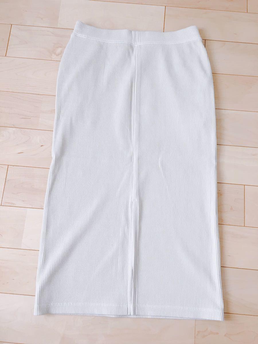 ユニクロ タイトスカート ホワイトベージュ Mサイズ
