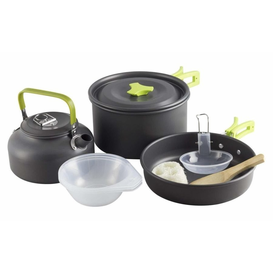 BBQ食器 キャンピング鍋 2-3人に適応 軽量 収納袋付き キャンプクッカー