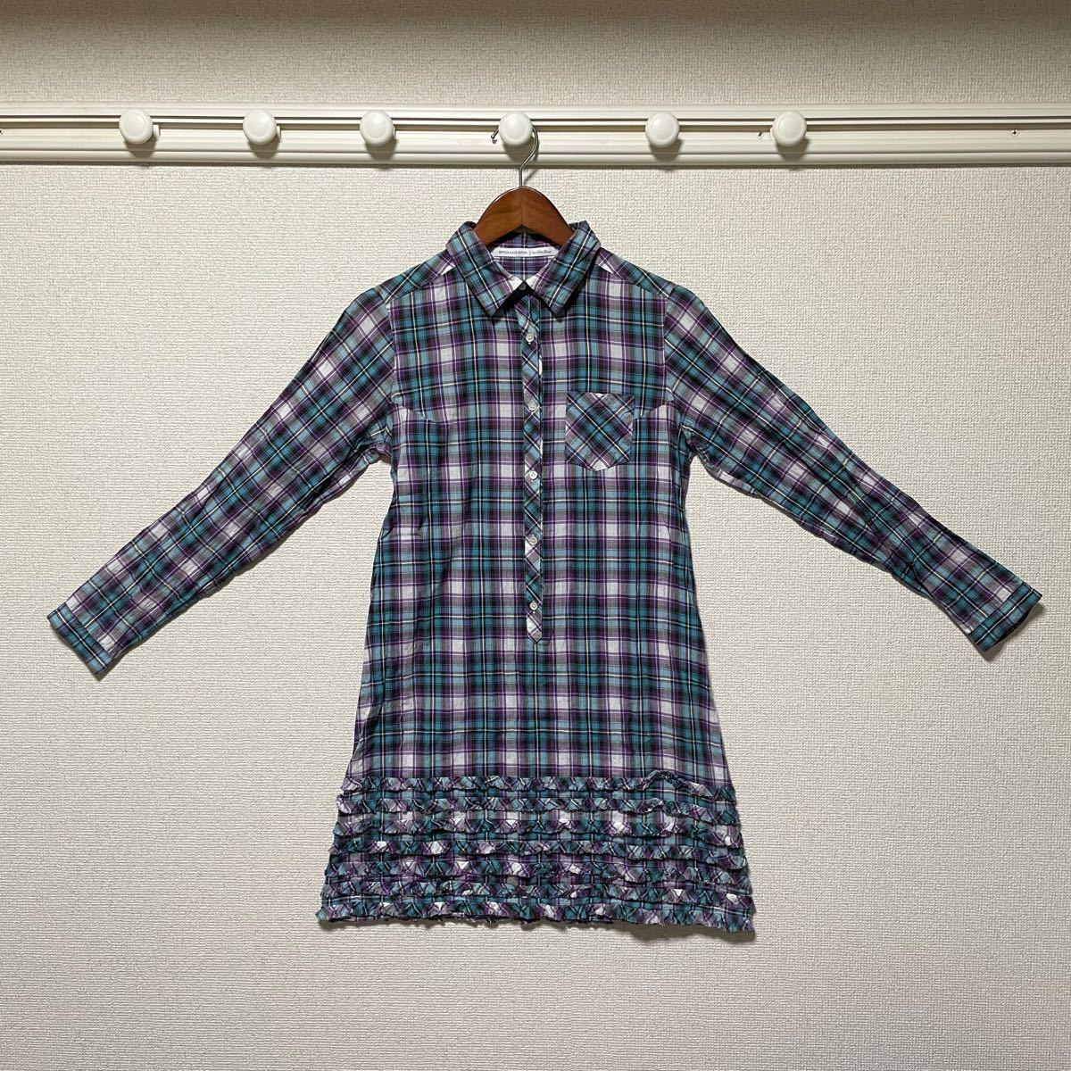 チェックシャツ シャツワンピース ロングワンピース チェック柄 シャツワンピース チュニックワンピース チュニックシャツ