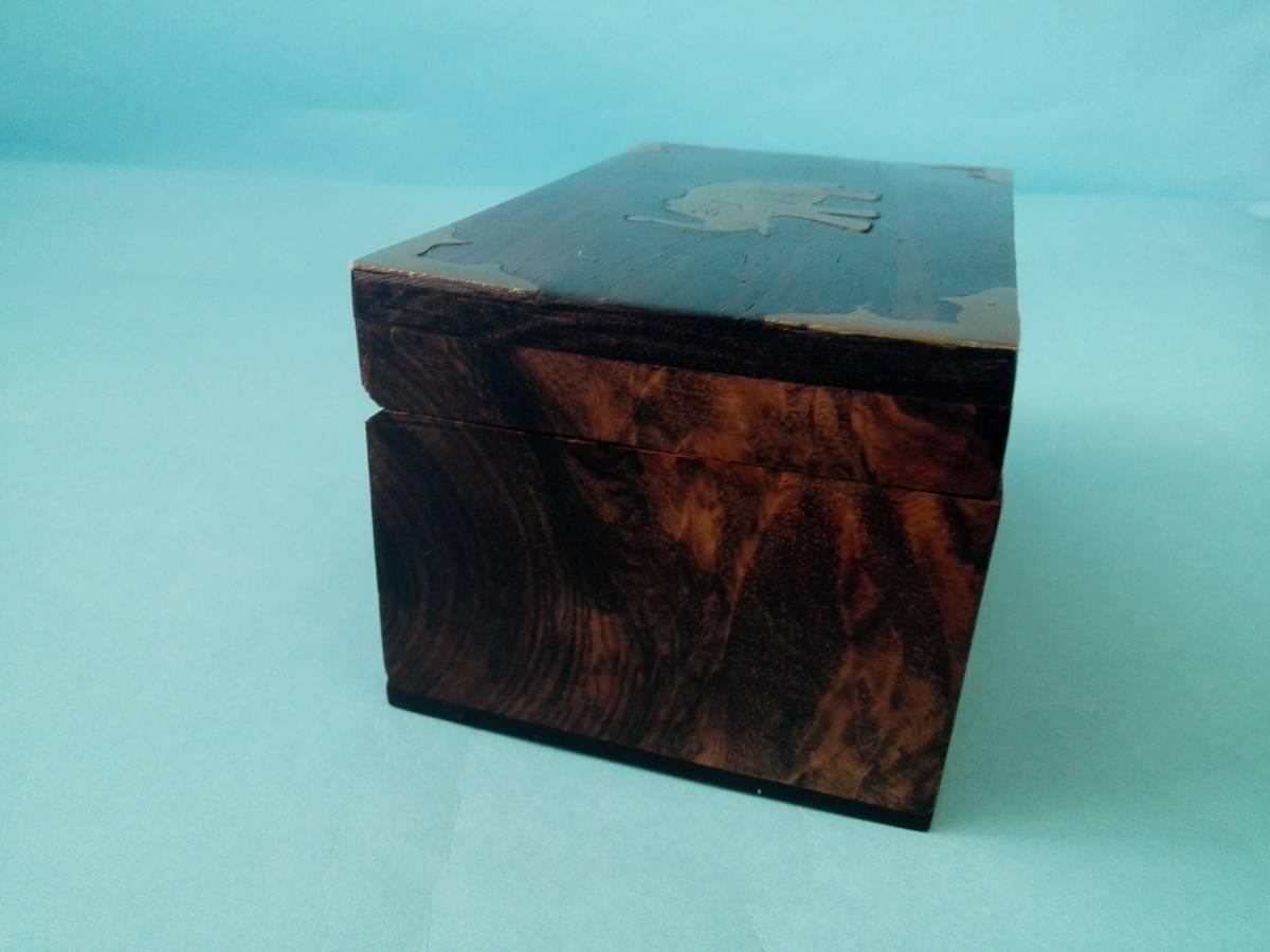 象嵌 木製 金属 小物入れ  アクセサリー入れ  置き物  像模様_画像4