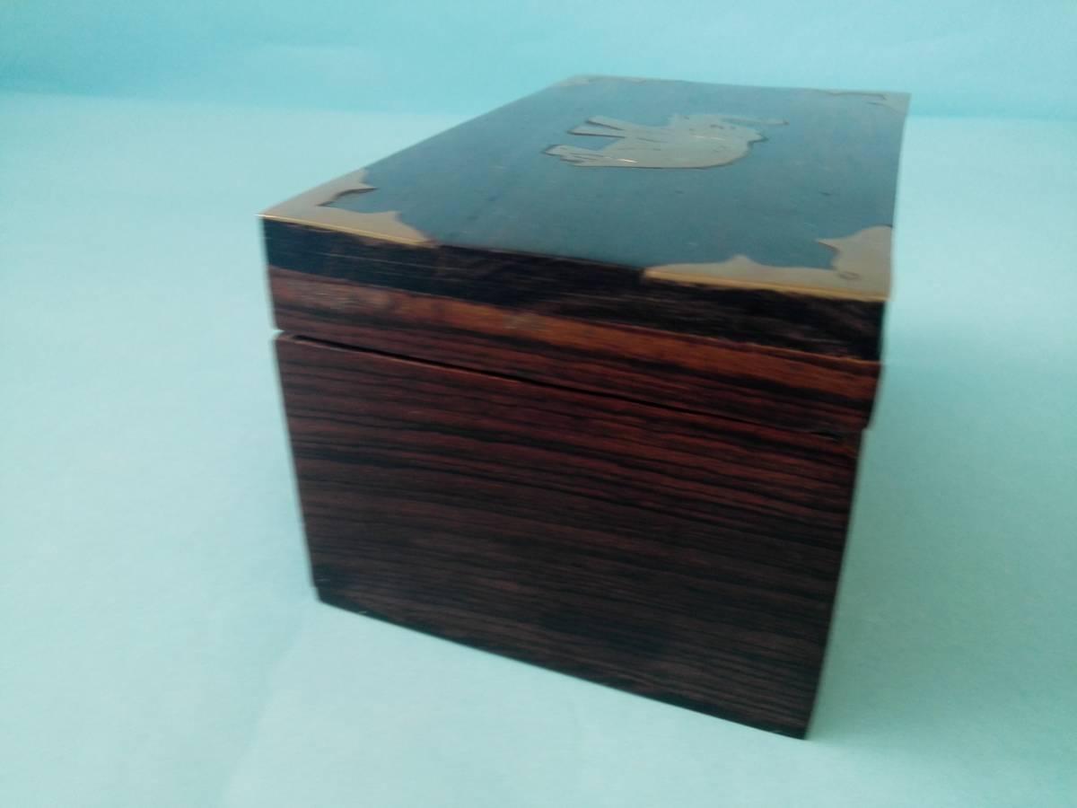 象嵌 木製 金属 小物入れ  アクセサリー入れ  置き物  像模様_画像6