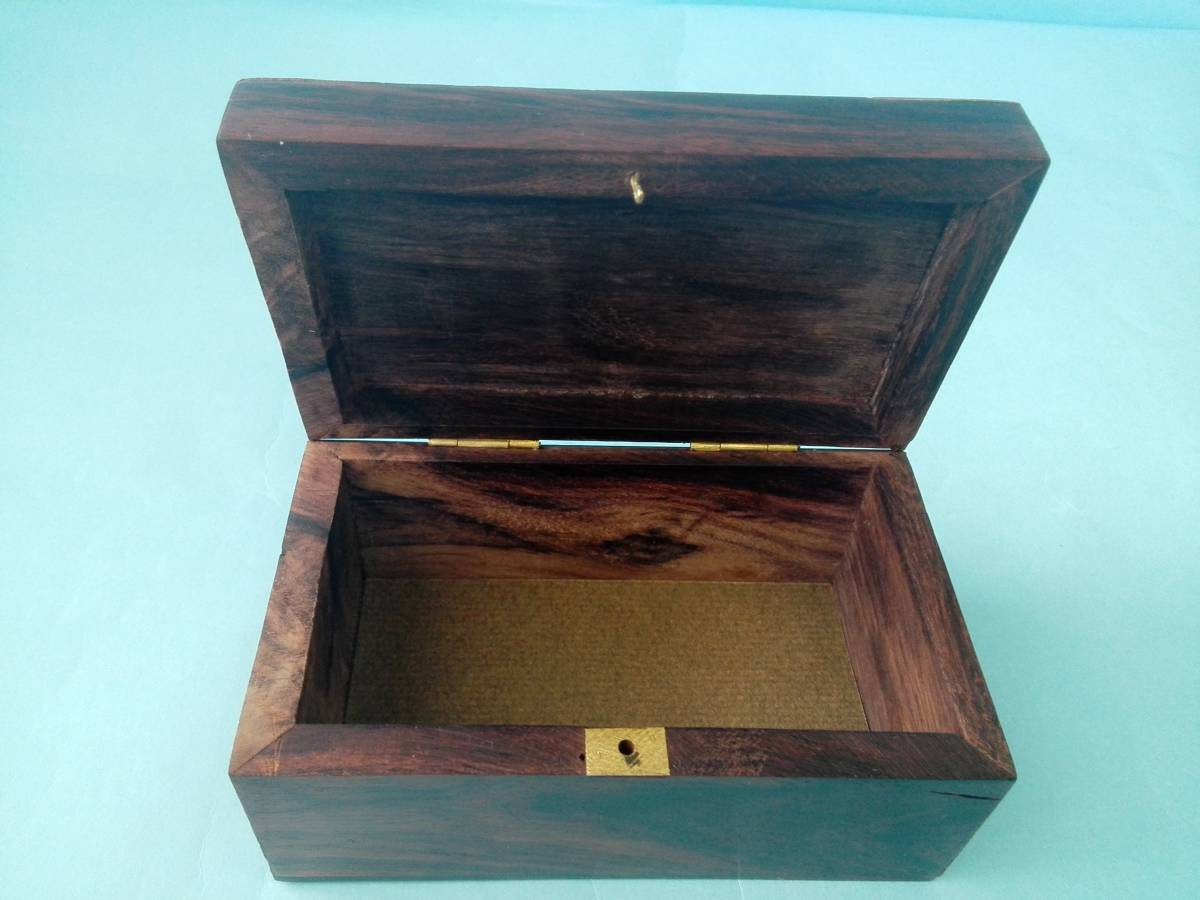 象嵌 木製 金属 小物入れ  アクセサリー入れ  置き物  像模様_画像8