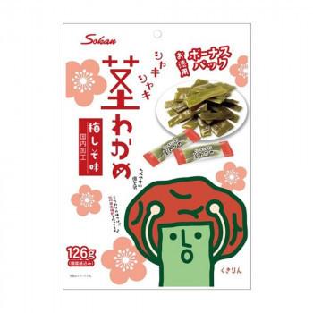 壮関 ボーナスパック茎わかめ 梅しそ味 126g×72袋(a-1665893)_画像1