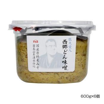 ヤマエ 国産原料麦みそ 西郷どん味噌 600g×6個(a-1616826)_画像1