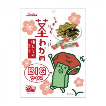 壮関 くきりんの茎わかめ梅しそ味 BIGサイズ 260g×24袋(a-1665891)_画像1