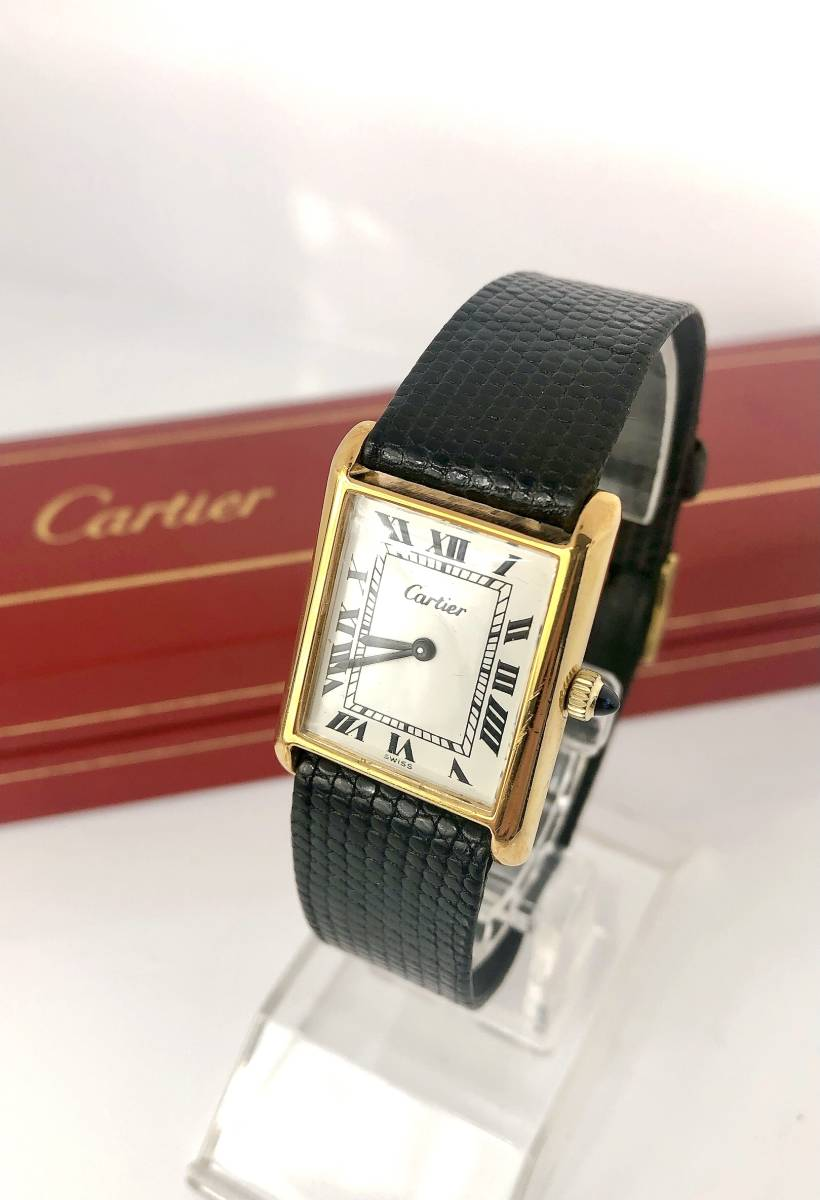 『WH-3035』OH済ケース入り☆Cartier カルティエ☆旧マストタンクLM☆稼働品