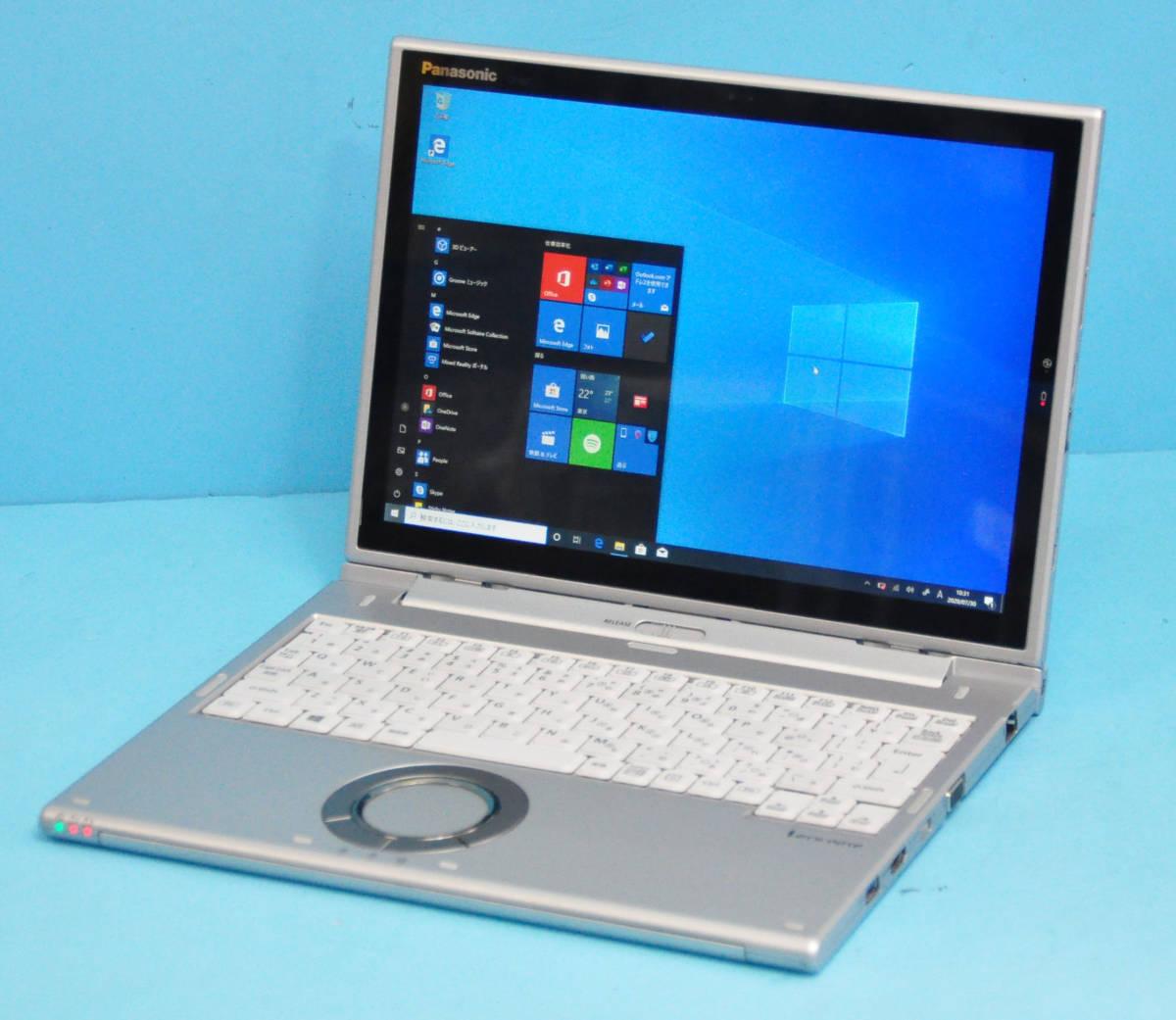 ★ 上位モデル 使用時間1650H ★ タッチパネル Panasonic CF-XZ6 Core i5 7300U/ メモリ8GB/ SSD 256GB/ 顔認証カメラ/ Office2019/ Win10_画像6