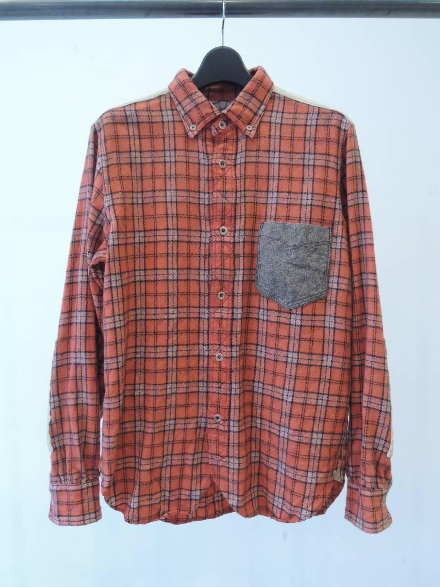 JUNYA WATANABE MAN ジュンヤマン ウールチェックシャツ XSサイズ コムでギャルソン_画像1