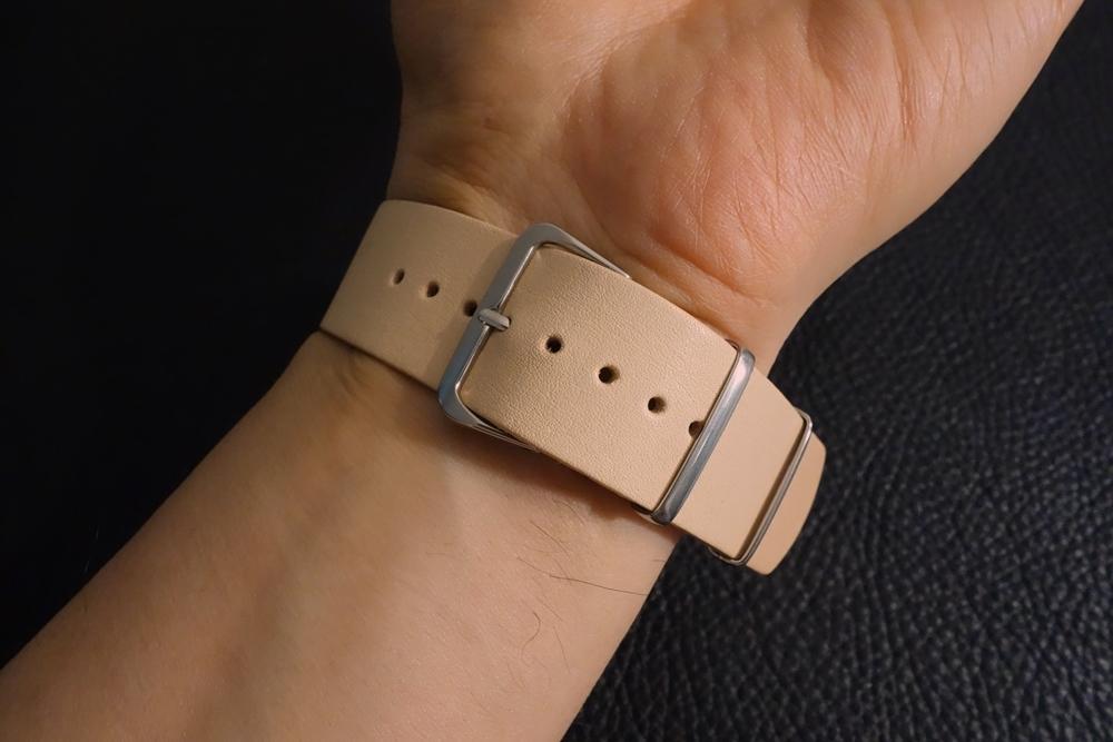 ◆ヌメ革 NATO G10ストラップ◆国産ヌメ革 18mm ナチュラル 日本製 本牛革 ミリタリー ブレスレット 腕時計ベルト_画像6