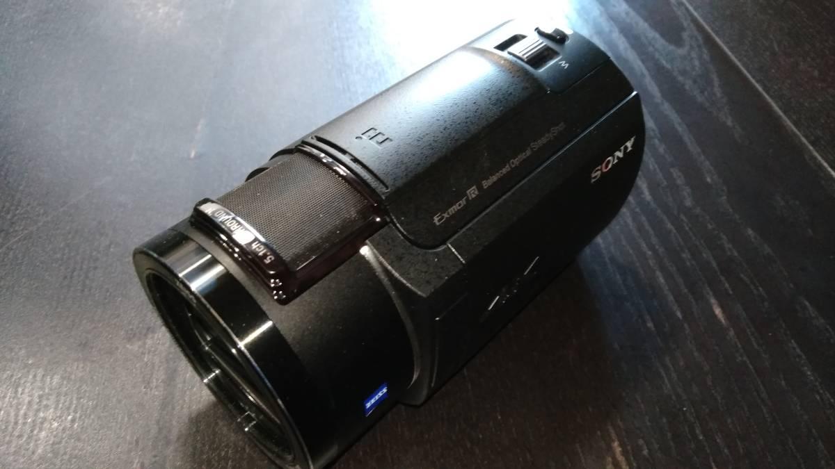 SONY FDR-AX45 4K ハンディカム ビデオカメラ ブラック 中古