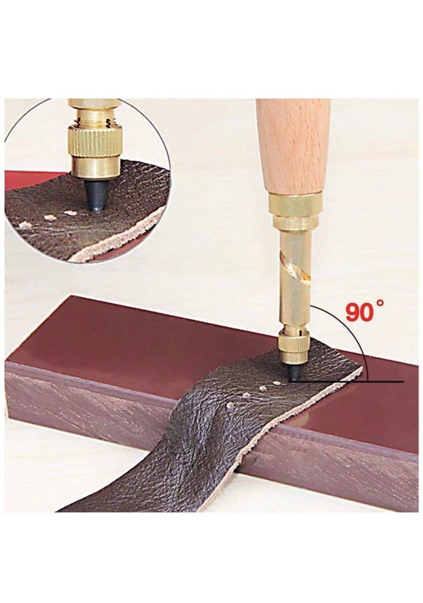 レザークラフト 穴あけ DIY 裁縫道具 スクリューポンチ
