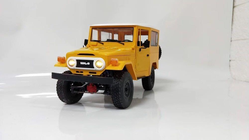 ★国内即納★黄 イエロー WPL C34 ラジコンカー RC 1/16 2.4G 4WD RTR即走行セット トラック クローラー オフロード D12後継スケールロック_画像3