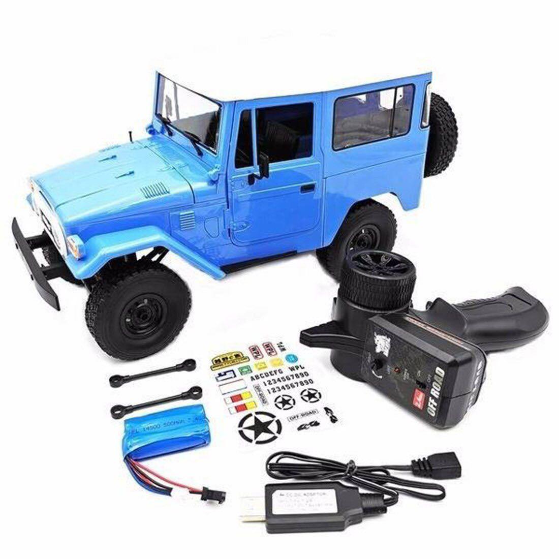 ★国内即納★青 ブルー WPL C34 ラジコンカー RC 1/16 2.4G 4WD RTR即走行セット トラック クローラー オフロード D12後継スケールロック_画像10
