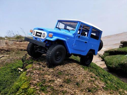★国内即納★青 ブルー WPL C34 ラジコンカー RC 1/16 2.4G 4WD RTR即走行セット トラック クローラー オフロード D12後継スケールロック_画像5