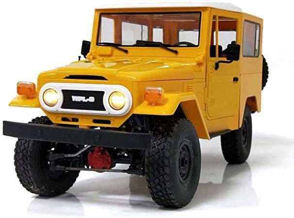★国内即納★黄 イエロー WPL C34 ラジコンカー RC 1/16 2.4G 4WD RTR即走行セット トラック クローラー オフロード D12後継スケールロック_画像10