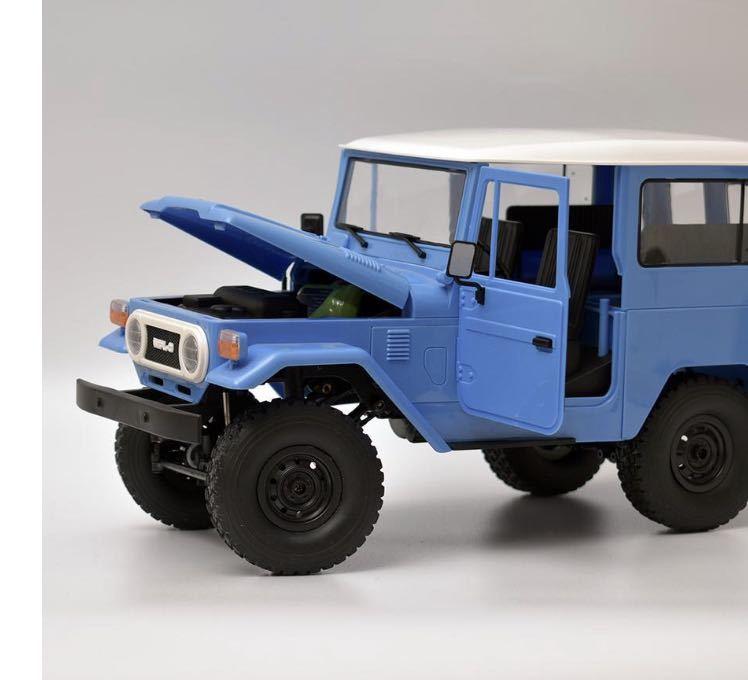 ★国内即納★青 ブルー WPL C34 ラジコンカー RC 1/16 2.4G 4WD RTR即走行セット トラック クローラー オフロード D12後継スケールロック_画像4