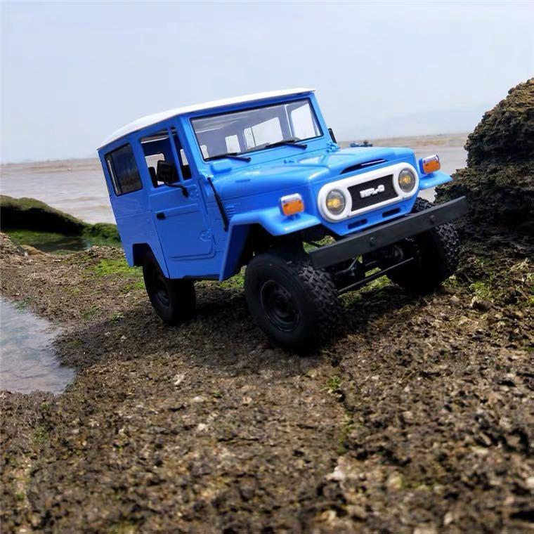 ★国内即納★青 ブルー WPL C34 ラジコンカー RC 1/16 2.4G 4WD RTR即走行セット トラック クローラー オフロード D12後継スケールロック_画像2
