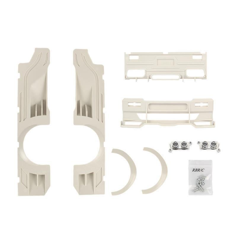 WPL D12軽トラック ホワイト塗装済み マフラー付き エアロパーツキット リアボディ ドリフト改造アップグレードラジコン カー スペアパーツ_画像2