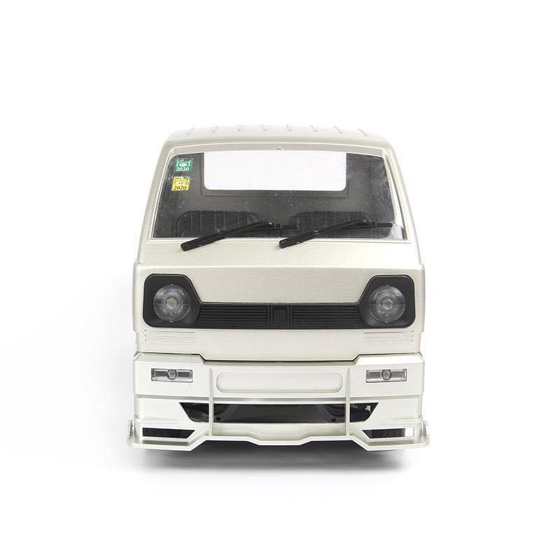 WPL D12軽トラック ホワイト塗装済み マフラー付き エアロパーツキット リアボディ ドリフト改造アップグレードラジコン カー スペアパーツ_画像5