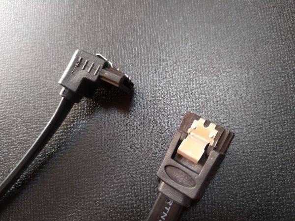 SATAケーブル SATA3 6Gbps対応 片側下L型 5本 ストレート5本