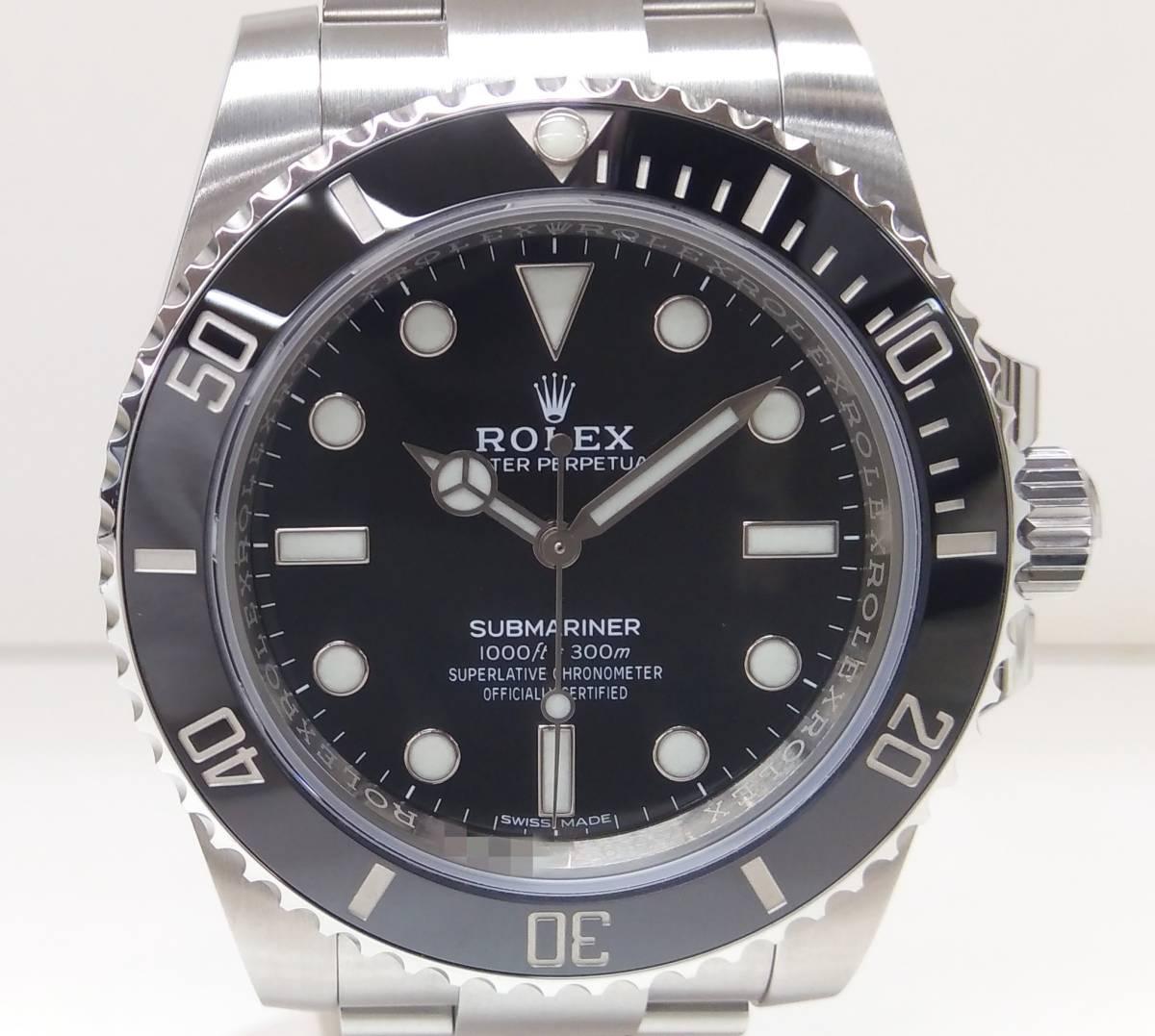 【未使用品】 ROLEX ロレックス SUBMARINER サブマリーナ 114060 ランダム メンズ 腕時計 ノンデイト 黒文字盤 【2019年9月購入】