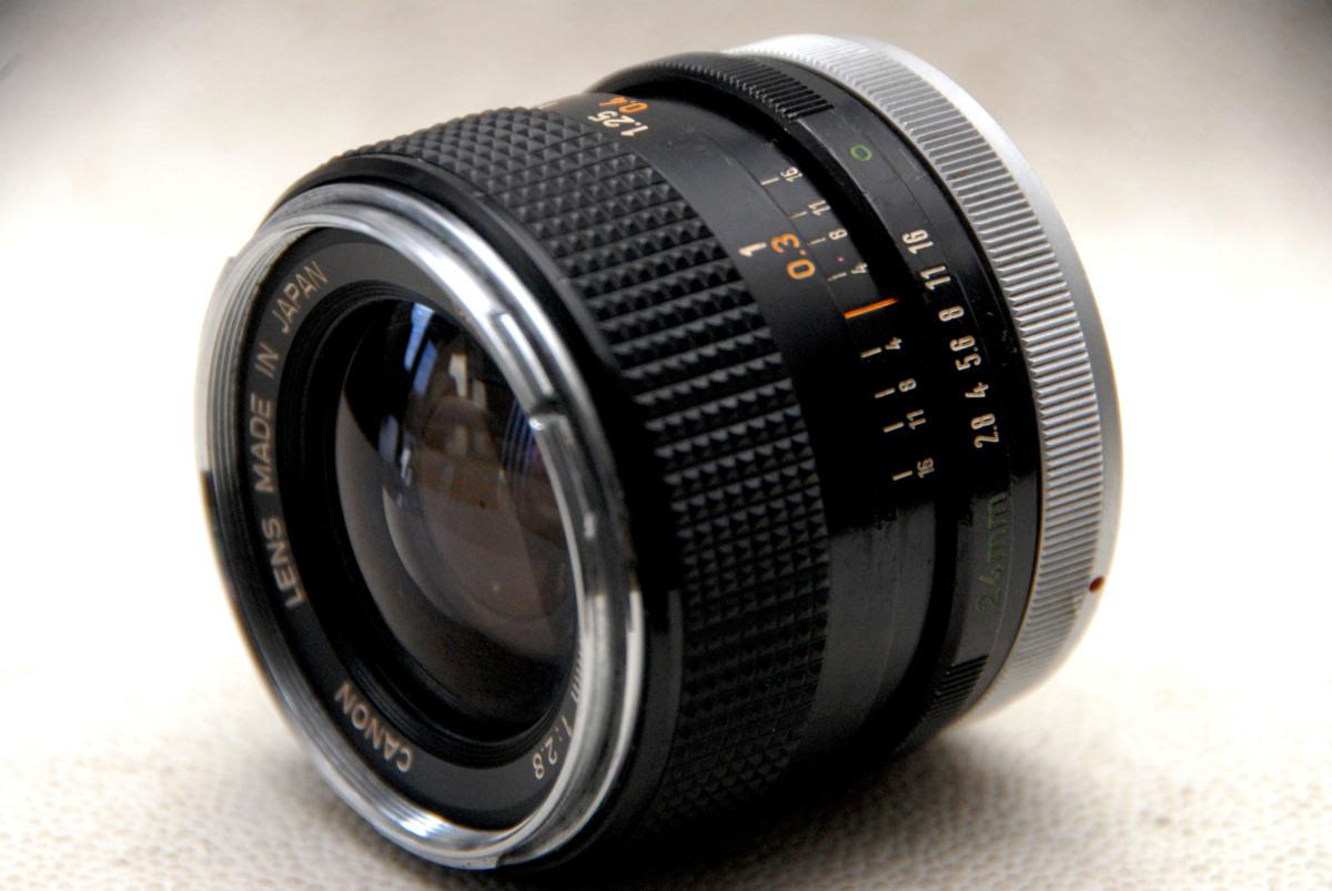 Canon キャノン純正 FD 24mm 単焦点高級ワイドレンズ 1:2.8 希少・作動品