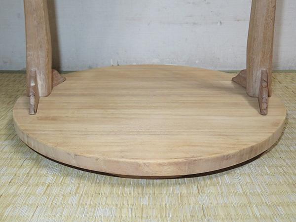◆ 茶道具 棚 小棚 【 利休形 桐木地 丸卓 】紙箱_画像7