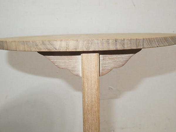◆ 茶道具 棚 小棚 【 利休形 桐木地 丸卓 】紙箱_画像8