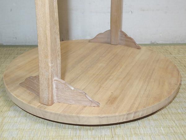 ◆ 茶道具 棚 小棚 【 利休形 桐木地 丸卓 】紙箱_画像9