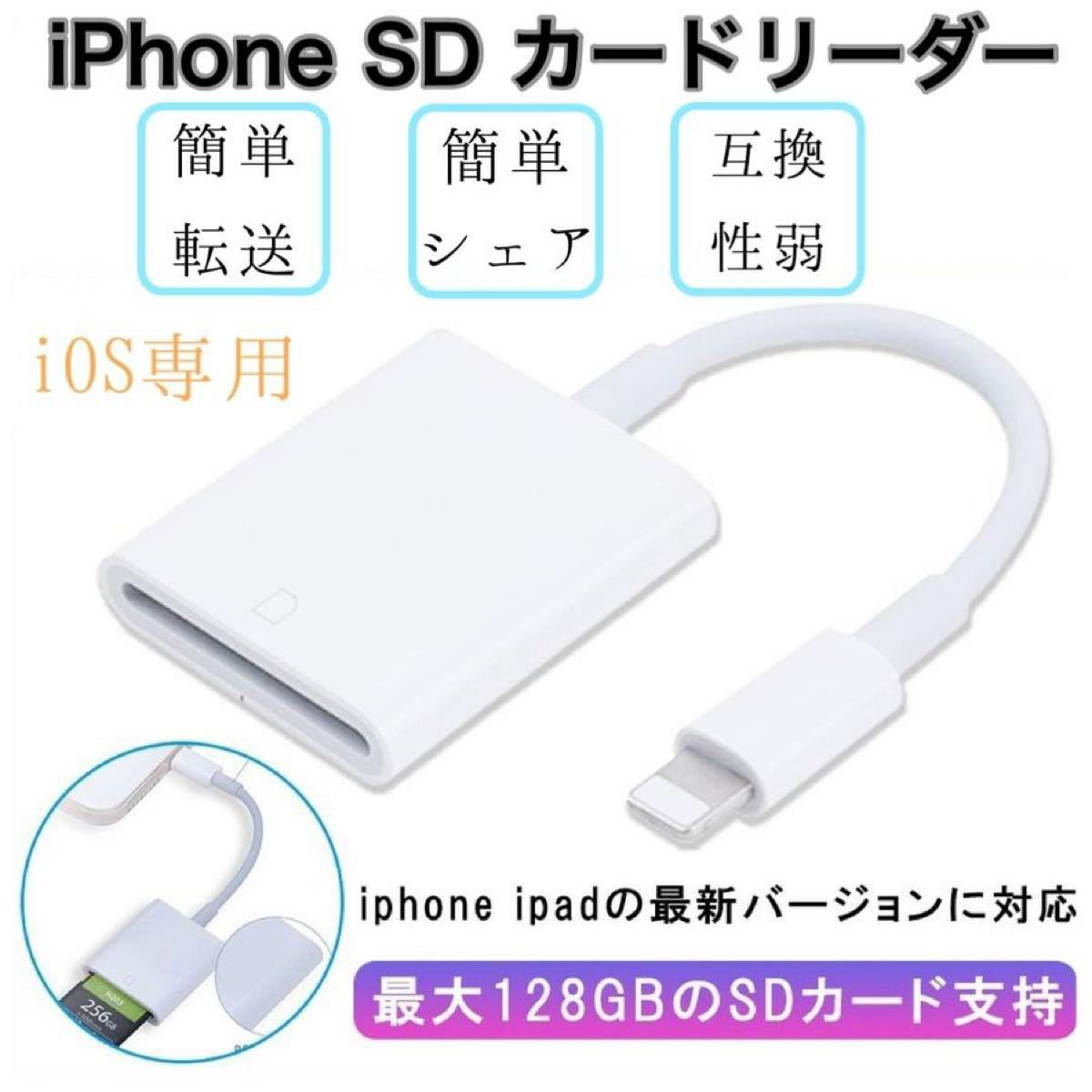 Apple SDカードリーダー Lightning to SD Card