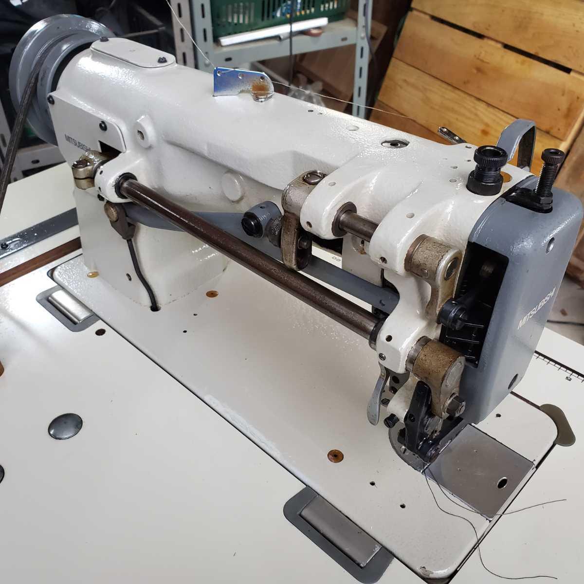 工業用ミシン、革、レザー、テント、シート、その他厚物縫いミシン、三菱MITSUBISHI 上下送り倍釜ミシンDY-350 !整備済み品、綺麗!_画像3