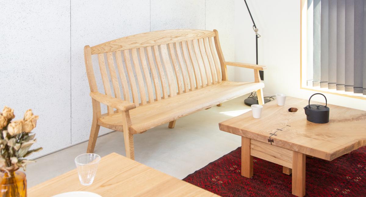 国産広葉樹のリビングチェア(2人掛)【岩泉純木家具公式ストア】_画像8