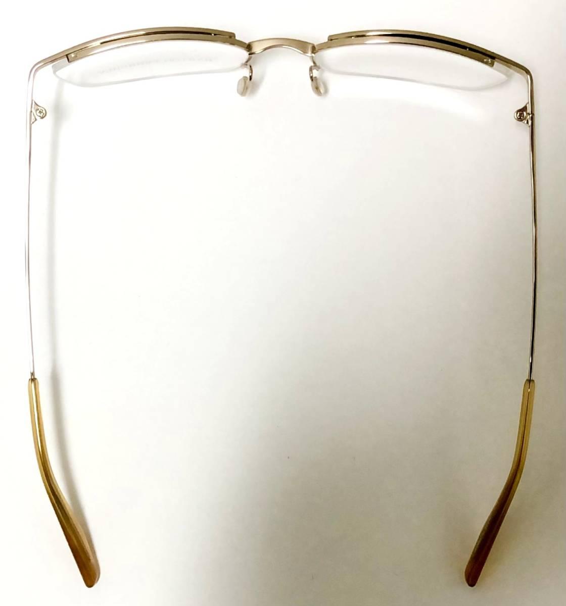 定価85800円 新品) 上流階級 バートンペレイラ ミア Barton Perreira 極上品 純正メガネ 付属品付き 金色 日本製 米国ブランド_画像8