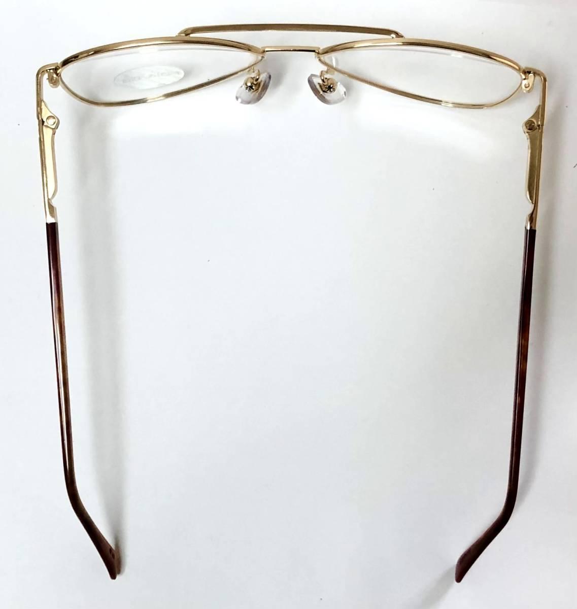新品箱付】20K金 アメリカンオプティカル 80年代 琥珀色 べっ甲柄 AO American Optical メガネ 米国ブランド_画像8